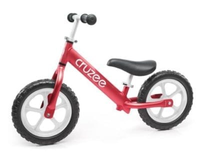 cruzee alloy balance bike red