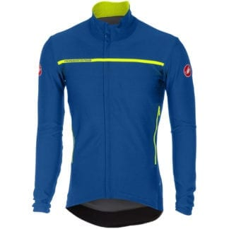 CASTELLI PERFETTO CONVERTIBLE JACKET LONG SLEEVE BLUE-YELLOW