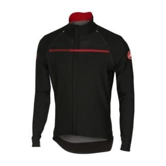 CASTELLI PERFETTO CONVERTIBLE JACKET LONG SLEEVE BLACK-RED