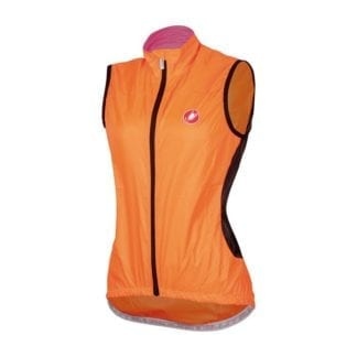 castelli womens velo vest orange