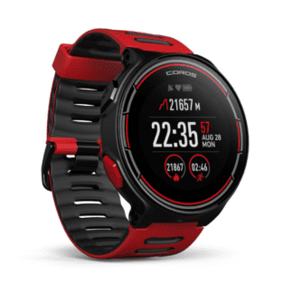 COROS PACE GPS MULTISPORT WATCH RED BLACK