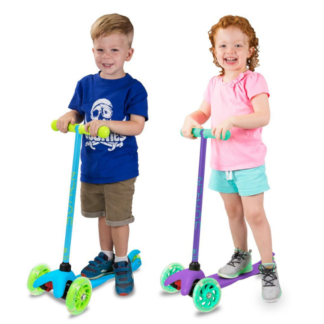 zycom zipper scooter for kids blue purple