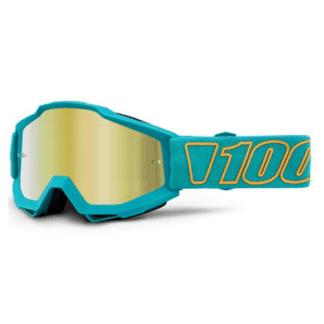 100% ACCURI GOGGLE GALAK- MIRROR GOLD LENS - ride100percent