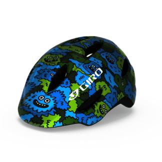 GIRO SCAMP HELMET BLUE GREEN CREATURE CAMO