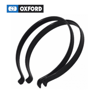 OXFORD TROUSER CLIPS BLACK - PVC COATED STAINLESS STEEL