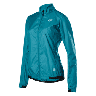 FOX WOMENS DEFEND WIND JACKET AQUA