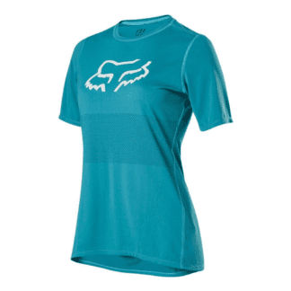 FOX WOMENS RANGER SHORT SLEEVE JERSEY AQUA