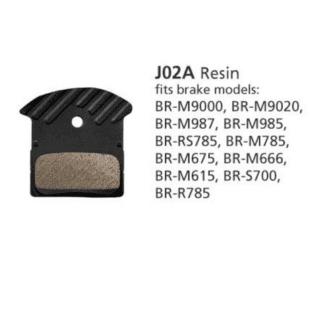 SHIMANO BR-M9000 RESIN BRAKE PAD & SPRING J02A W/FIN