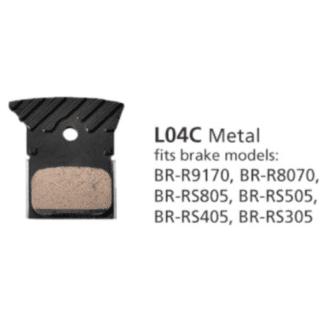 SHIMANO BRAKE PAD L04C METAL PAD & SPRING ROAD DISC