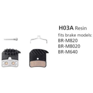 SHIMANO BRAKE PADS BR-M820 BR-M8020 BR-M640 H03A RESIN W/FIN & SPRING
