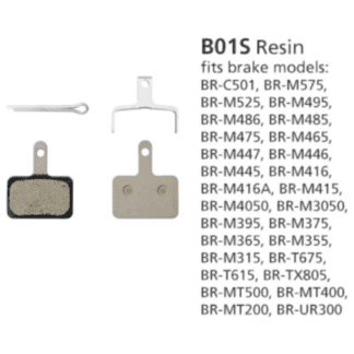 SHIMANO BRAKE-PART DISCPAD SET SHIM B-TYPE B01 RESIN/STL MY2014