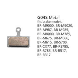 SHIMANO DISC BRAKE PADS BR-M8000 G04S METAL
