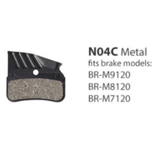 SHIMANO XTR BRAKE PAD BR-M9120/M8120 METAL W/FIN 4 PISTON (N04C)
