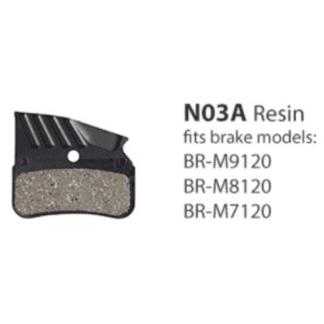 SHIMANO XTR BRAKE PAD BR-M9120/M8120 RESIN W/FIN 4 PISTON (N03A)