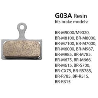 SHIMANO BR-M9000 RESIN PAD & SPRING G03A