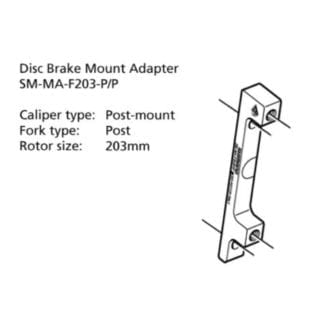 SHIMANO MOUNT ADAPTER DISC CALIPER F203-PP : POST