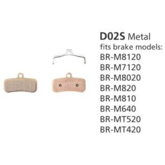 SHIMANO BRAKE PADS BR-M810 D02S METALLIC