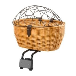 M-WAVE WICKER PET BASKET WITH COVER