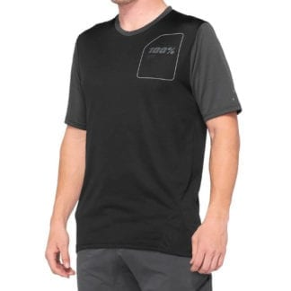100% RIDECAMP JERSEY CHARCOAL BLACK