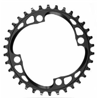 ABSOLUTE BLACK - 4 BOLT 104BCD CHAINRING - ROUND