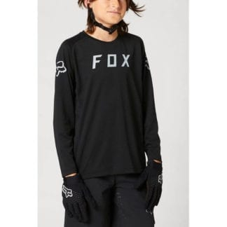 FOX YOUTH DEFEND LS JERSEY BLACK