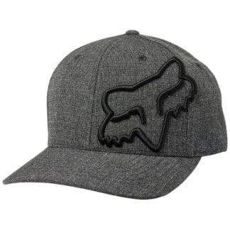 FOX CLOUDED FLEXFIT HAT BLACK/BLACK