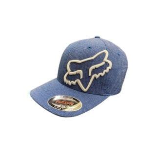 FOX CLOUDED FLEXFIT HAT ROYAL BLUE