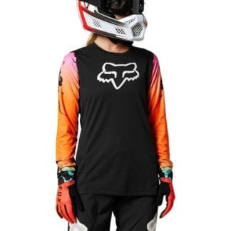 FOX WOMENS DEFEND JERSEY PYRE BLACK (1)
