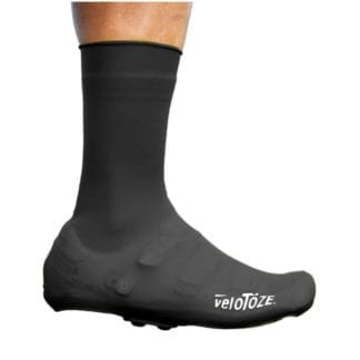 VELOTOZE TALL SHOE COVER SILICONE WITH SNAPS BLACK