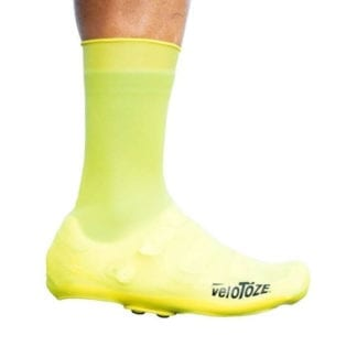 VELOTOZE TALL SHOE COVER SILICONE WITH SNAPS VIS YELLOW